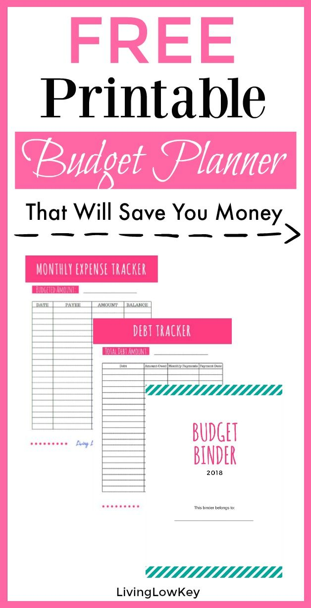 Free Budget Binder Printables Make Saving Money Easy Pinterest - free printable budget spreadsheet