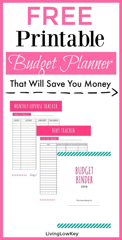 Free Budget Binder Printables Make Saving Money Easy Pinterest