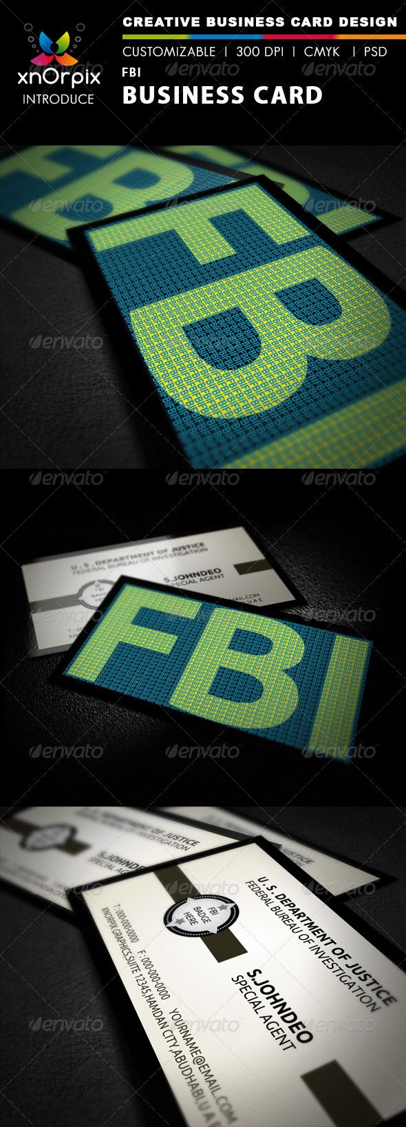 Fbi Business Card Business Card Branding Corporate Business Card Print Templates