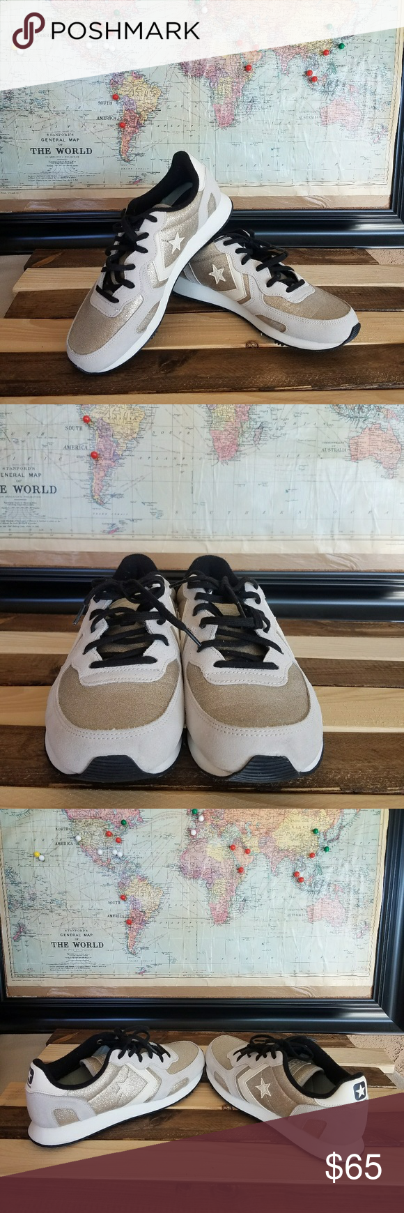 Converse Auckland Racer gray and gold glitter   Grey and gold ...