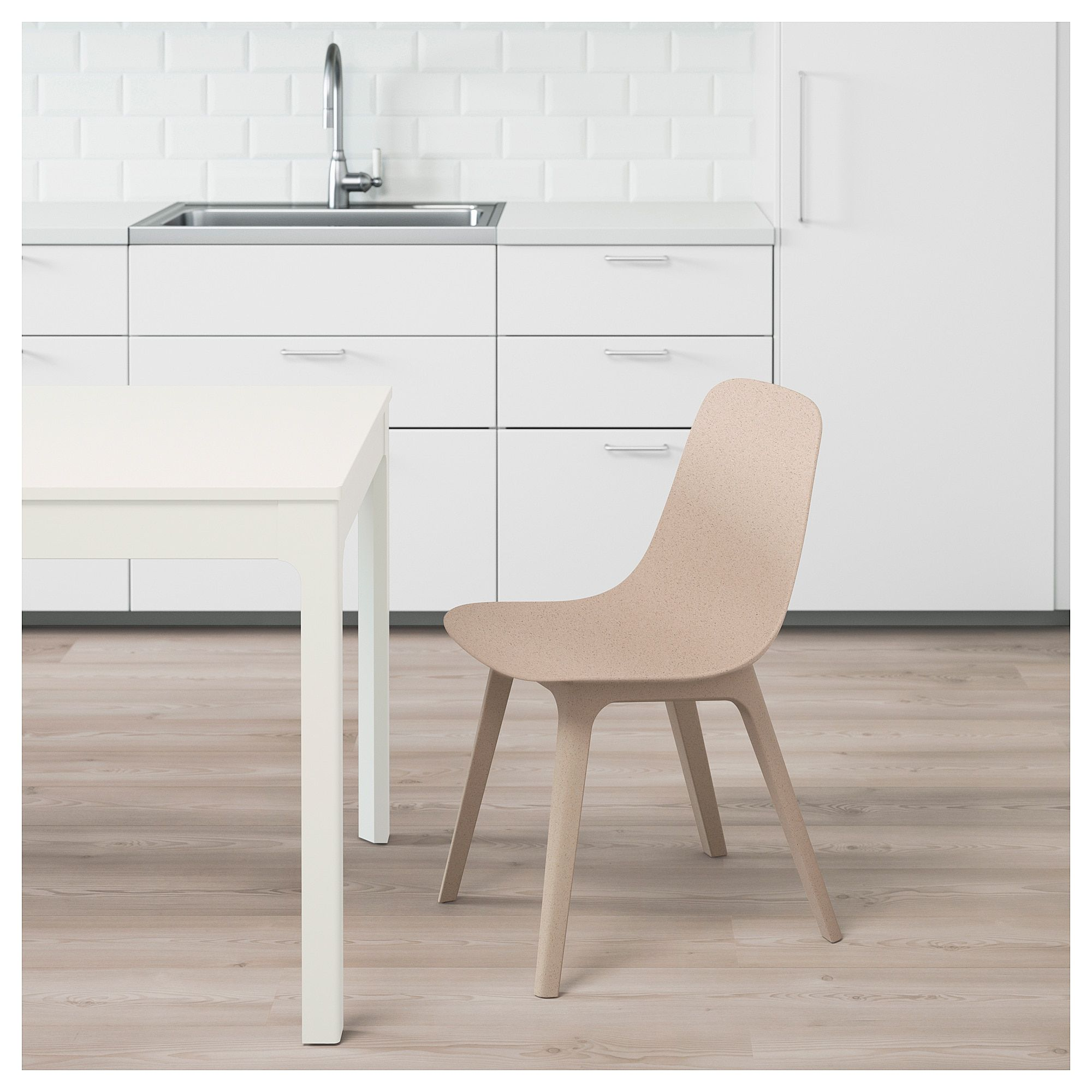 IKEA ODGER White, Beige Chair Dining chairs for sale