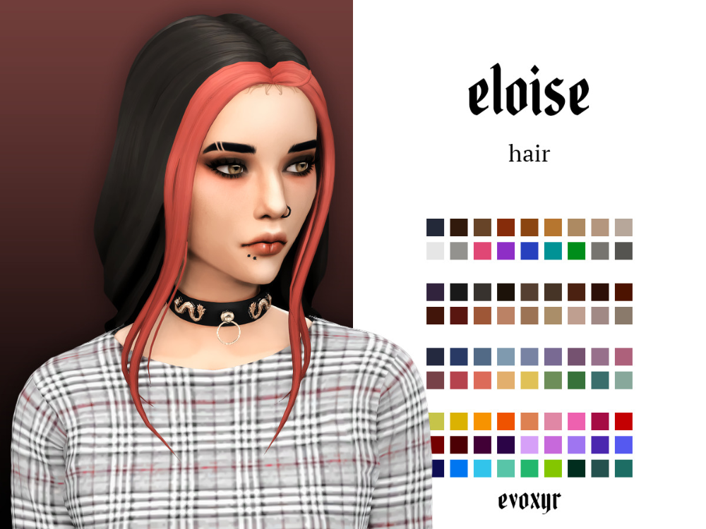 Evoxyr Eloise Hair My Second Hair From Ridgeport S Cc Finds In 2020 Sims 4 Tattoos Sims Sims Four