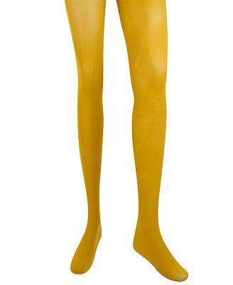 mustard solid nylon tights $4.50
