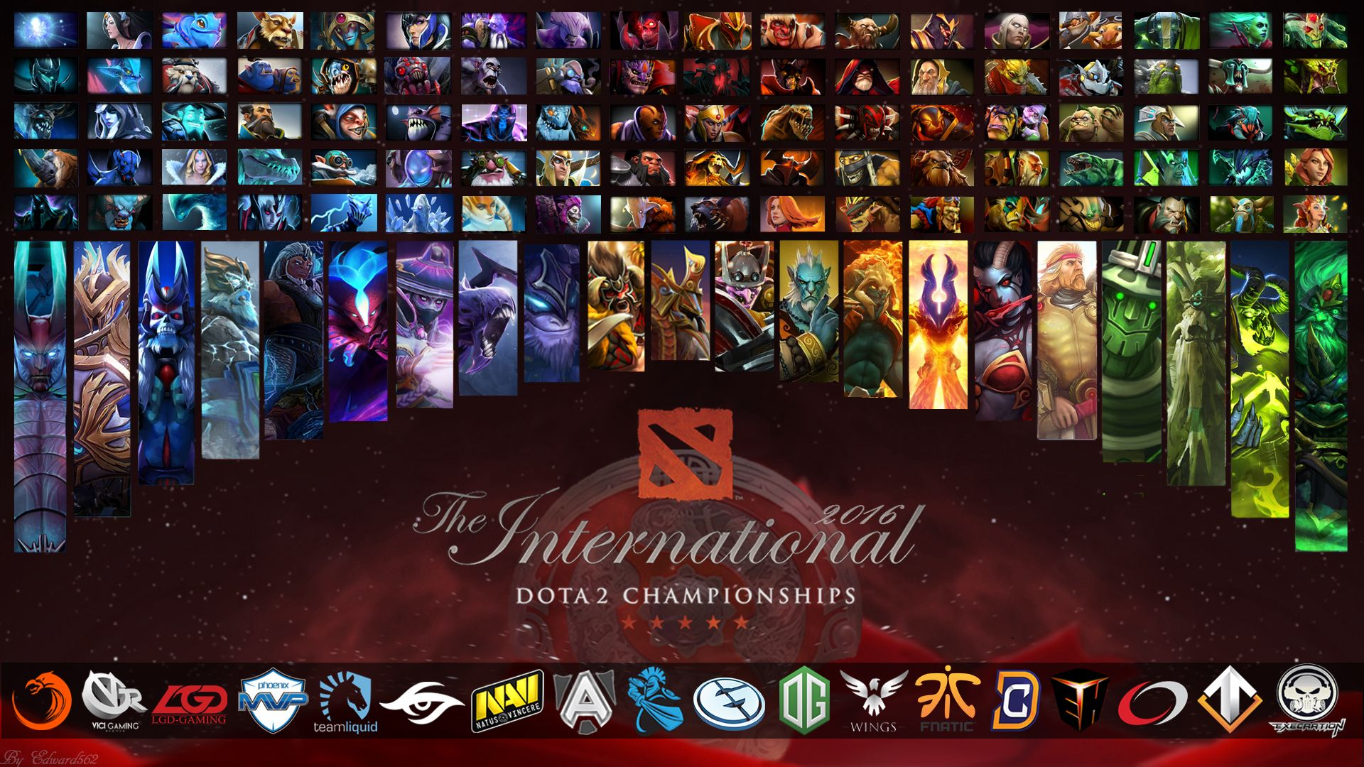 The International 6 All Heroesteams Wallpaper By Edward5622