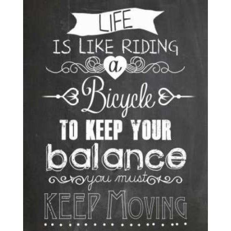 Posterazzi Life is like Riding a bicycle Canvas Art - Claudia Schoen (24 x 30)