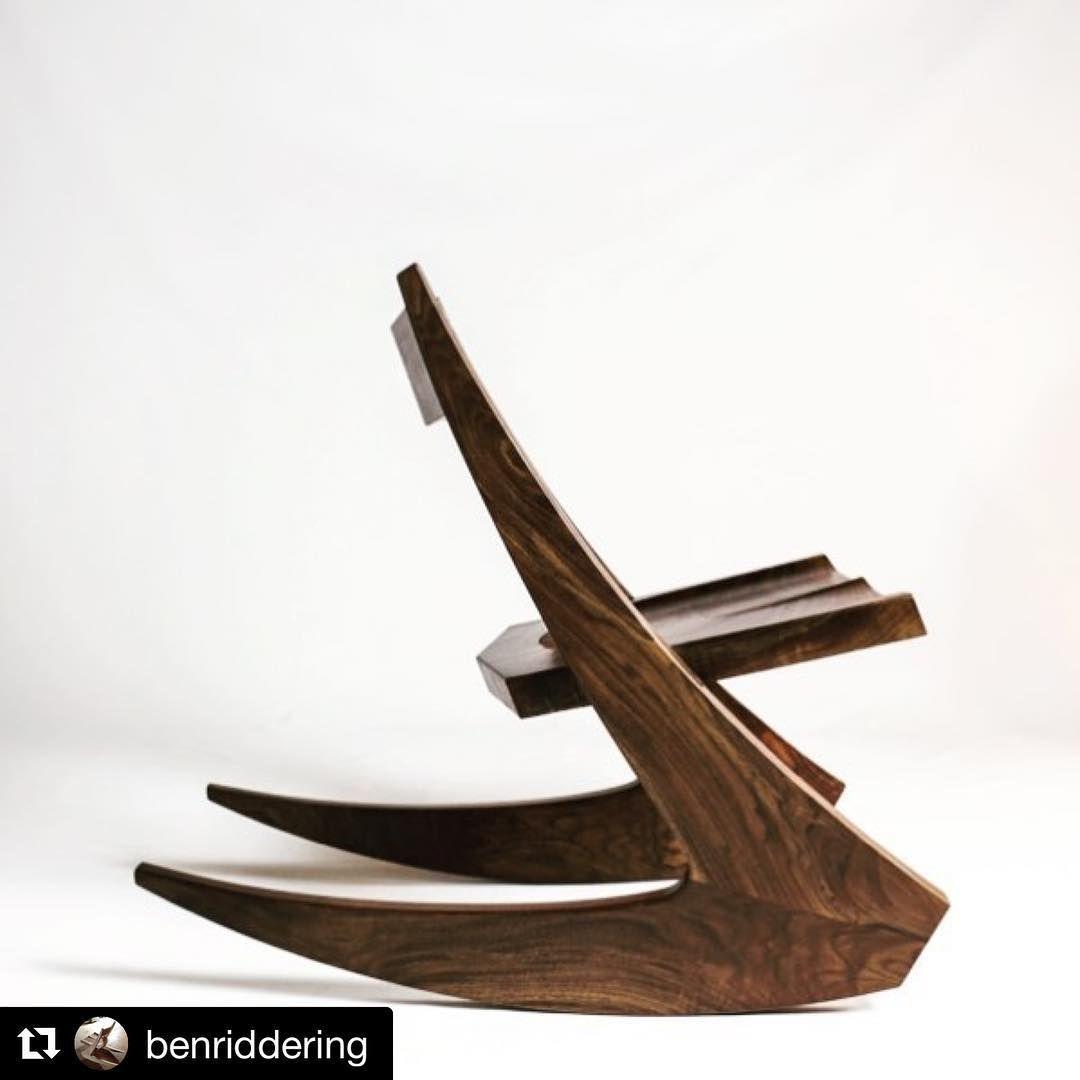 """406 gilla-markeringar, 1 kommentarer - @woodshop_warrior på Instagram: """"#Repost outstanding design and craftsmanship on this rocker by @benriddering !! Check it out!! ・・・…"""""""