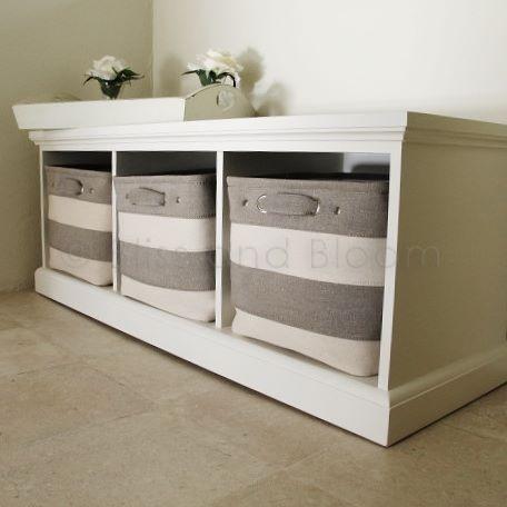 Superior 3 Basket Storage Unit/bench | Bliss And Bloom Ltd