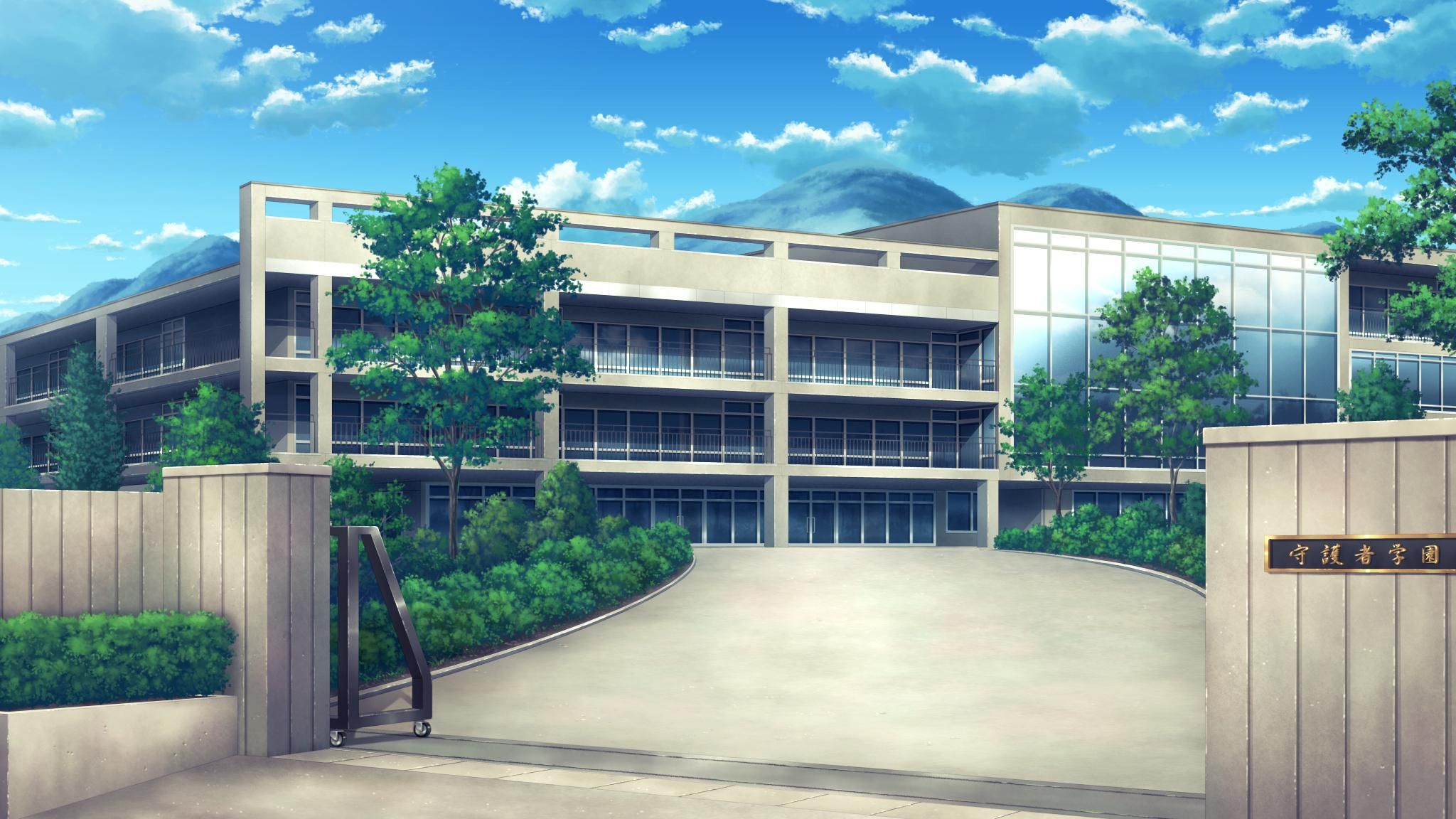 School Anime Scenery Background Wallpaper Anime scenery