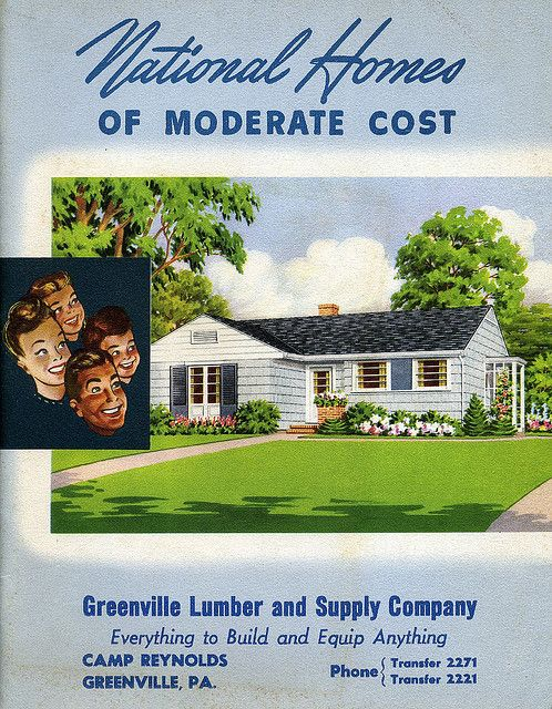 National homes of moderate cost 1949 roots of the ranch for Moderate house plans
