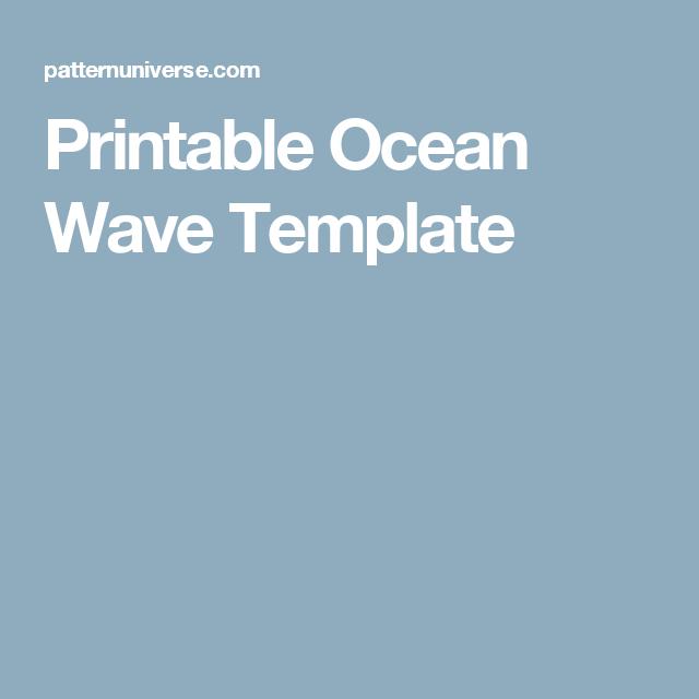 printable ocean wave template templates pinterest ocean waves