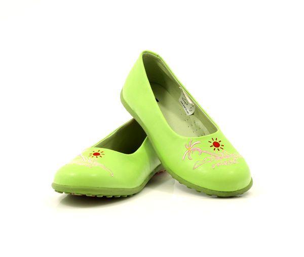 Balerinki Dziewczece Frisky 50165 Zielone Rozowe Shoes Loafers Fashion