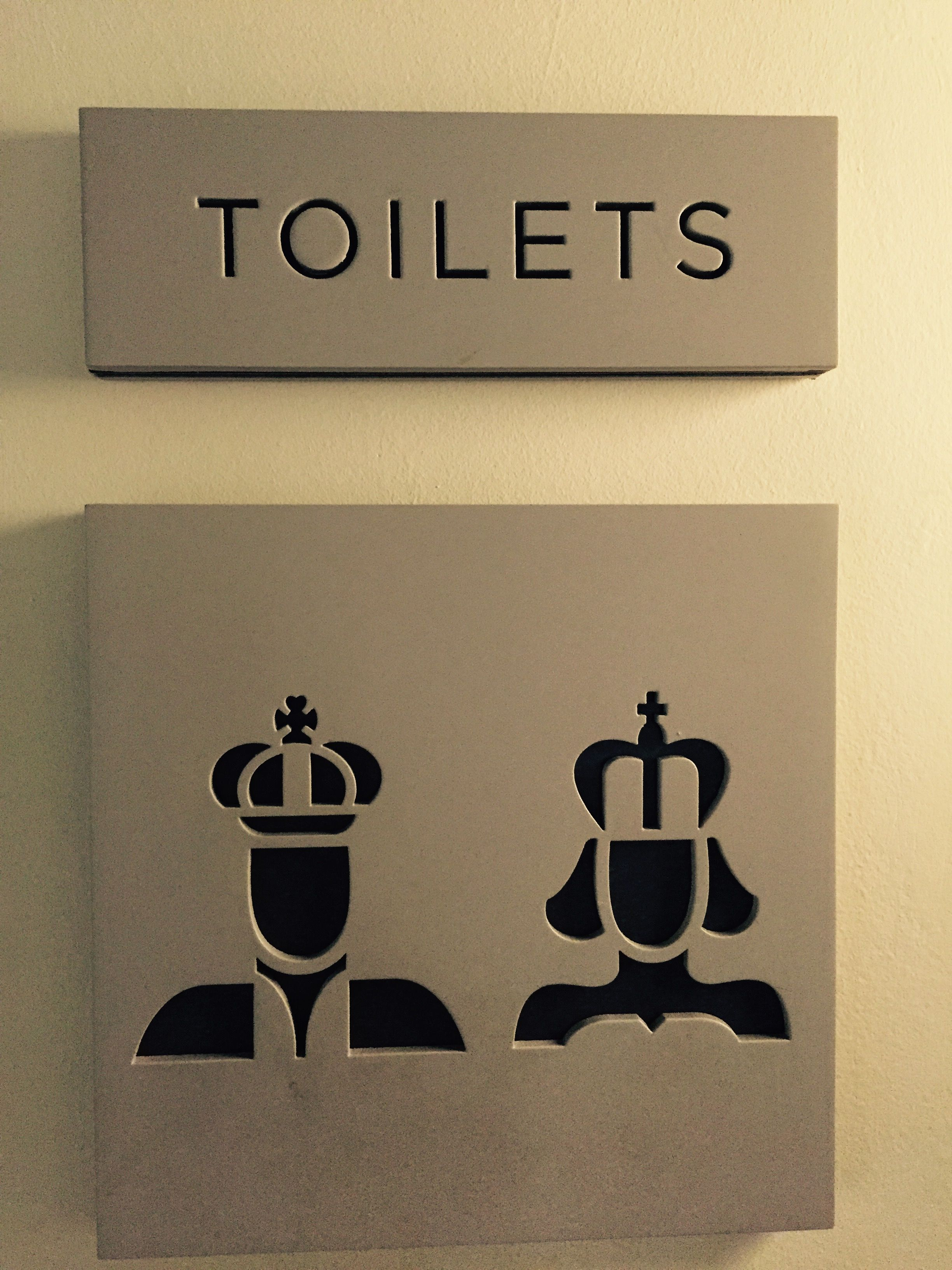 King And Queen For The Wc With Images Sign Design Bathroom