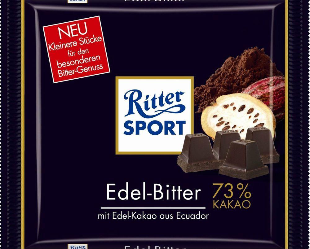 4 Bars Ritter Sport Fine Extra Dark 73 Original German