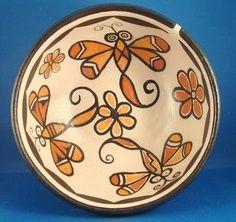 Southwest Pueblo Indian Pottery (Plate, patterns, flowers, color)