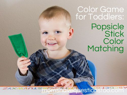 Looking for some fun color games for toddlers This popsicle stick
