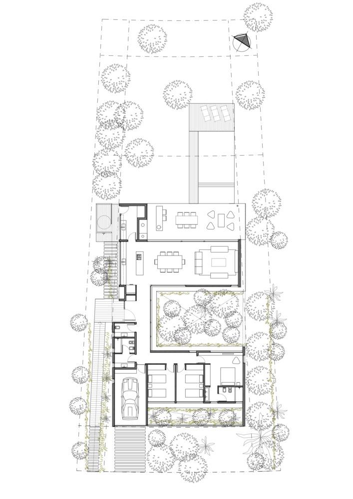 Gallery Of C House Estudio Pka 24 House Floor Plans Architectural Floor Plans Best House Plans