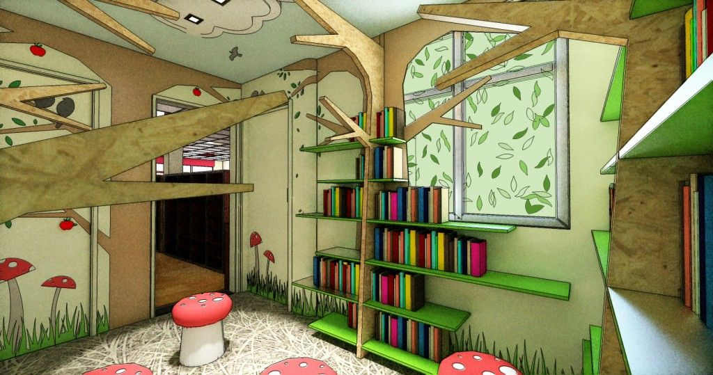 Childrens reading room charity challenge for loros and for Kids study room design