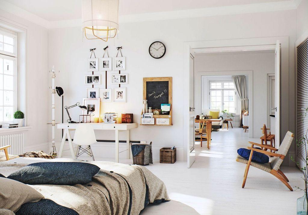 Ideale Inrichting Slaapkamer : Scandinavisch interieur slaapkamer parksidetraceapartments