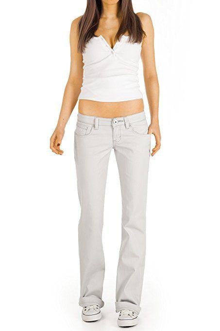 2b95083e448a16 Bestyledberlin Damen Jeans Hosen, Bootcut Hüftjeans j14i 40/L: Amazon.de: