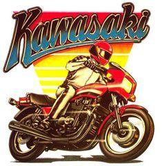 Vintage Kawasaki Bike Poster Kawasaki Motorcycles Kawasaki Bikes