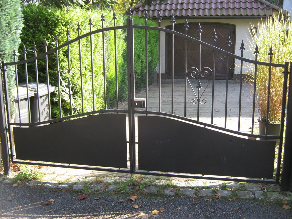 doppelfl geltor gartentor einfahrtstor hoftor metalltor gate 300 x 175 135 cm in garten. Black Bedroom Furniture Sets. Home Design Ideas