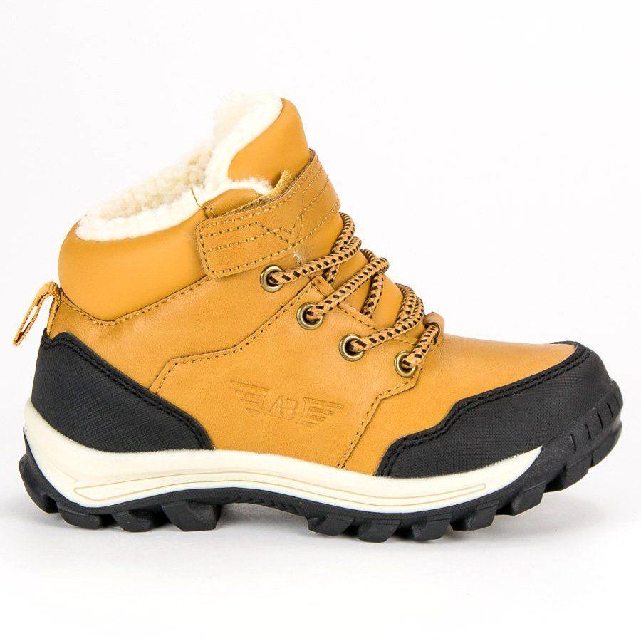 Polbuty I Trzewiki Dzieciece Dla Dzieci Arrigobello Zolte Cieple Obuwie Na Zime Arrigo Bello Hiking Boots Shoes Boots