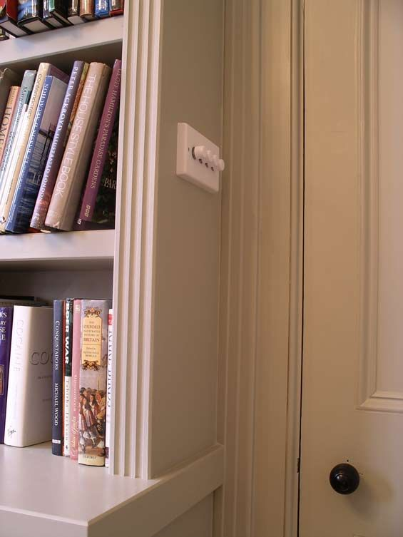 Superior Light Switch Built In To Bookcase Side