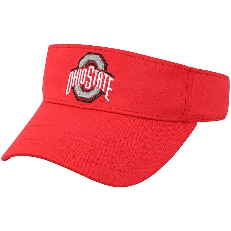 Ohio State Buckeyes Adult Team Logo Visor Black