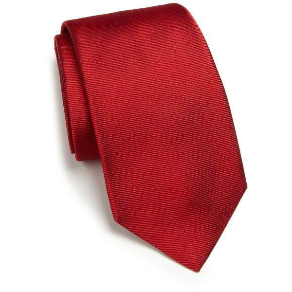 c887c4abe5b6 RVR Textured Silk Tie ($200) ❤ liked on Polyvore featuring men's fashion,  men's accessories, men's neckwear, ties, apparel & accessories and red