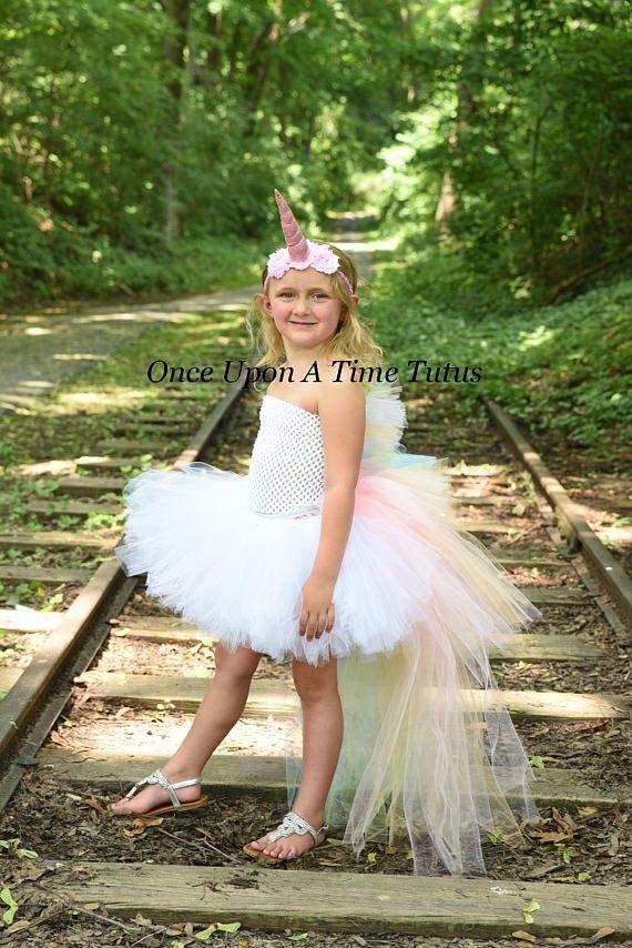 c9d7b2ec0743 Pastel Unicorn Tutu Dress This stunning bustle tutu dress is perfect for birthday  parties, gifts