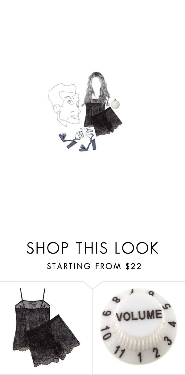 """""""Silver"""" by blew-the-alien ❤ liked on Polyvore featuring Christian Louboutin and Cosabella"""