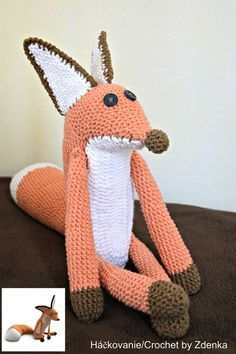 Crochet Fox from The Little Prince https://www.facebook.com/710199975743896/photos/a.710437995720094.1073741829.710199975743896/878094888954403/?type=3&theater