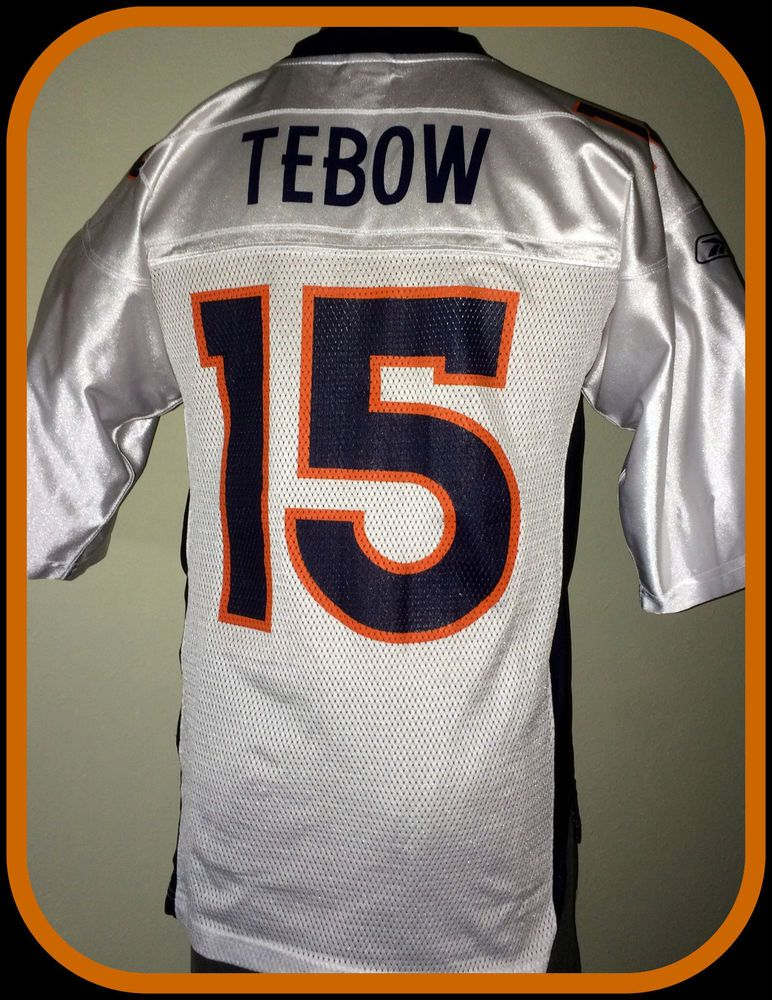 online store 12ff9 119e7 DENVER BRONCOS TIM TEBOW REEBOK ADULT SMALL ON FIELD REPLICA ...