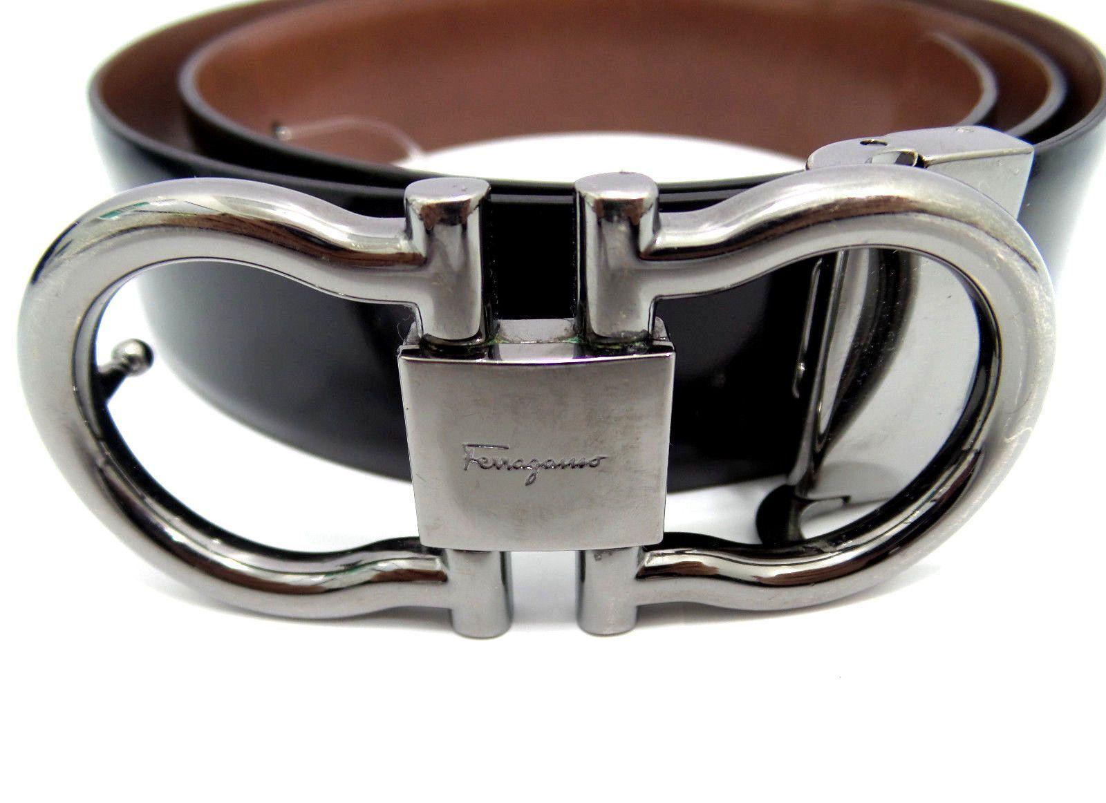 belts for men designer zbit  Salvatore Ferragamo Belt Men's Pre-owned Gancini Reversible Black &  Hickory Leather Silver Buckle 路 Designer BeltsSalvatore Ferragamo