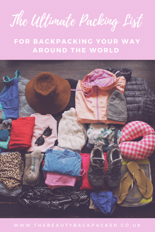 The Ultimate Packing List for Backpacking Your Way Around the World #ultimatepackinglist the ultimate packing list for backpacking your way around the world #backpackingchecklist #ultimatepackinglist