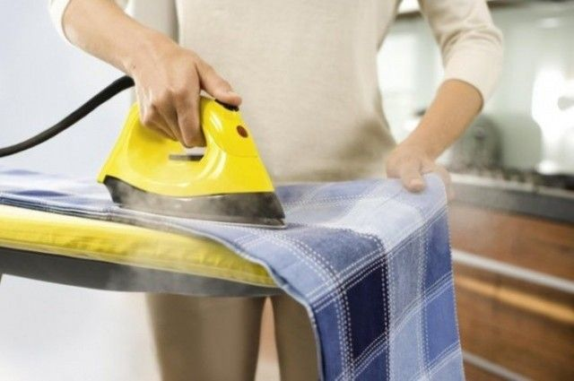 Как убрать блеск от утюга с юбки