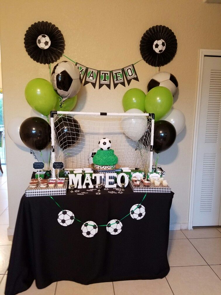 Fiesta tematica de f tbol party soccer fiesta pepe - Decoracion cumpleanos nino 6 anos ...