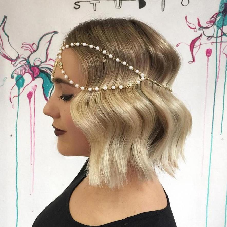 Vintage Bob Hairstyle #updobobhairstyles (With images) | Prom hairstyles for short hair, Vintage ...