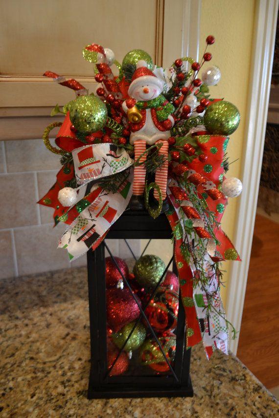 Snowman Lantern Swag Ideas que gustan Kerst