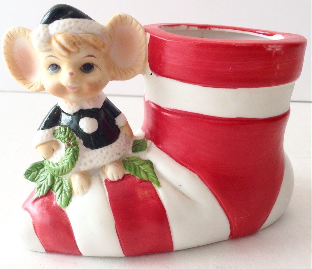 Christmas mouse ceramic santa boot vase decoration santa boots christmas mouse ceramic santa boot vase decoration reviewsmspy