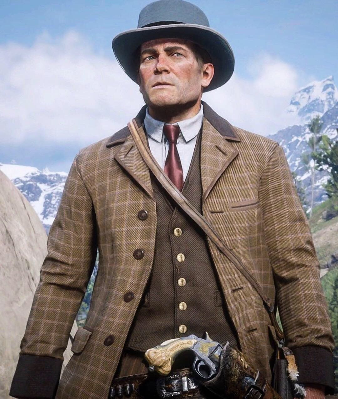 Arthur Morgan As Cole Phelps With Images Red Dead Redemption