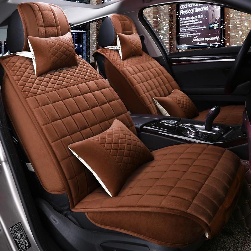 Winter Plush Car Seat Cover Cushion For Ford Edge Mondeo Ecosport Focus Fiesta Series Car Pad Auto Seat Cushions Car Seats Interior Accessories Carseat Cover