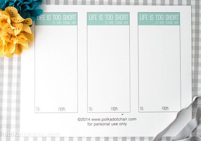 Free Printable Cards For Diy Hair Ties Hair Ties Diy Free Printable Cards Diy Hairstyles