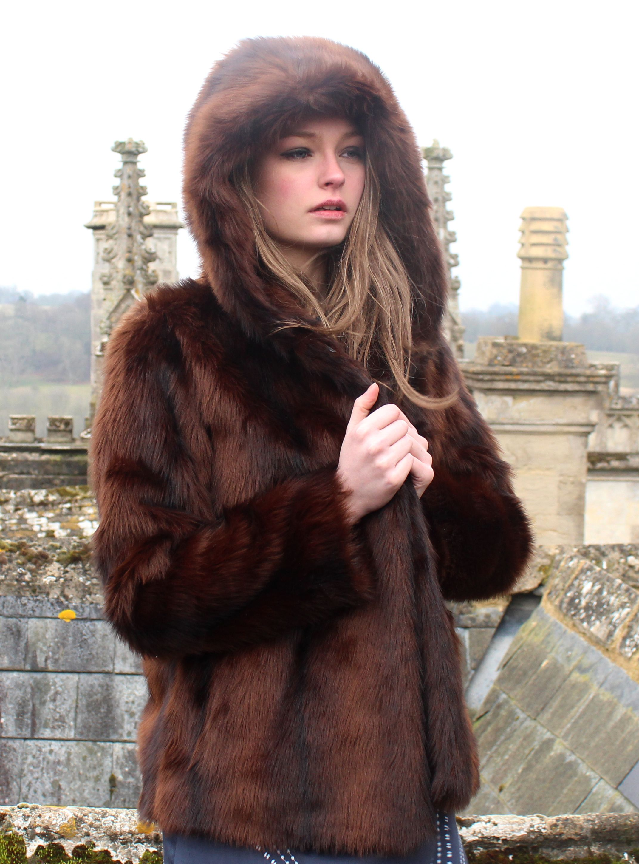 08485d758 Faux Fur Hodded Jacket in Mink Glamour Ruby+Ed AW13 www.rubyanded.co ...