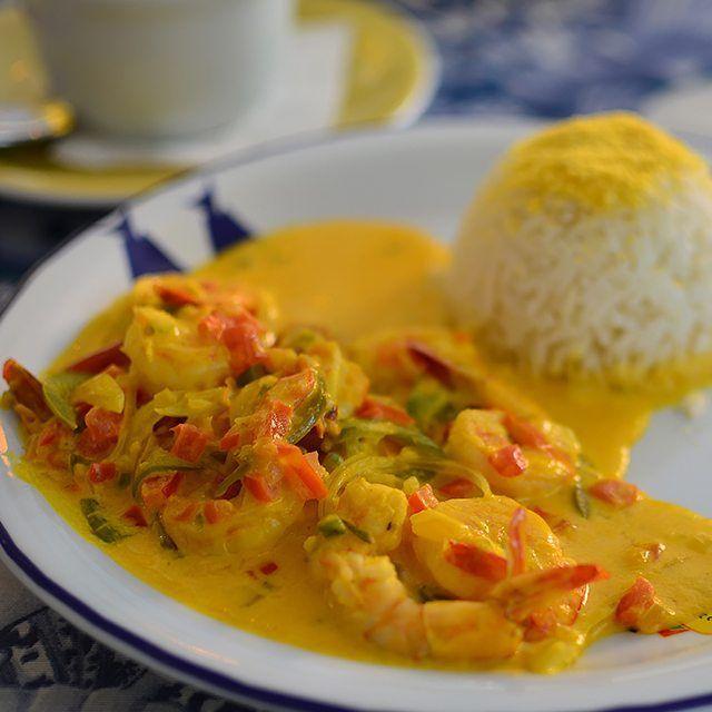 Beijuqueca de camarão no Restaurante Beijupirá em Porto de Galinhas: Ensopado de leite de coco com azeite de dendê arroz branco e pirão. Eu conto tudo aqui:  http://ift.tt/1JLtjg7 ------------------- @beijupira #beijupirá #beijupiráportodegalinhas #beijupiráolinda #beijupirálodgenoronha #beijupiráporto