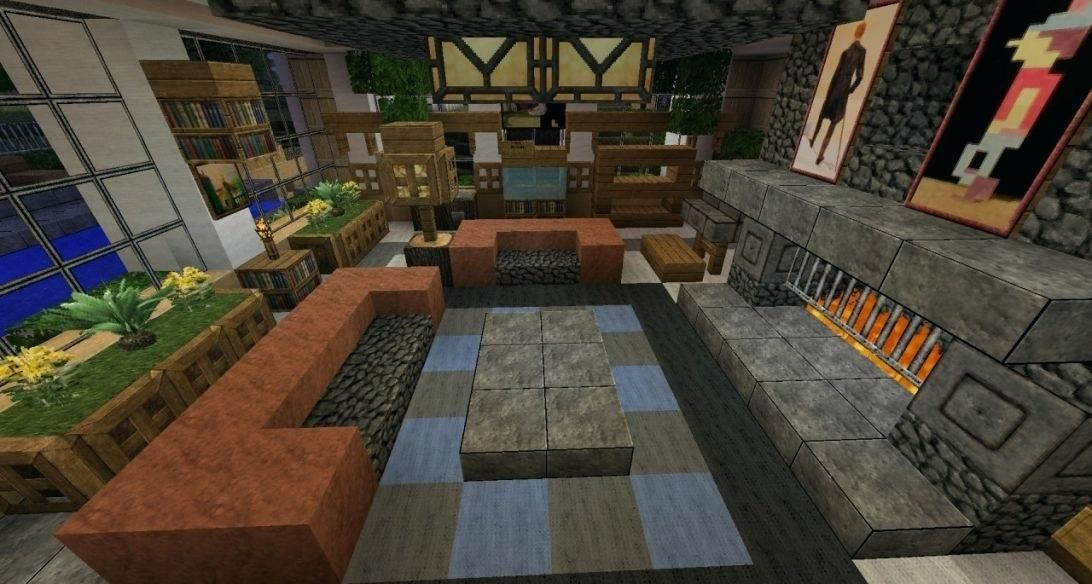 20 Living Room Ideas Designed in Minecraft | Minecraft ...