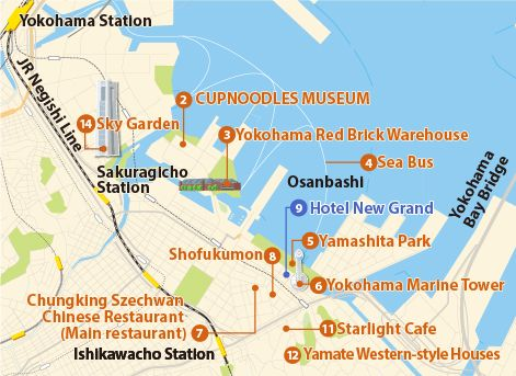 nice Map of TokyoYokohama Tourist Travelquaz Pinterest Nice