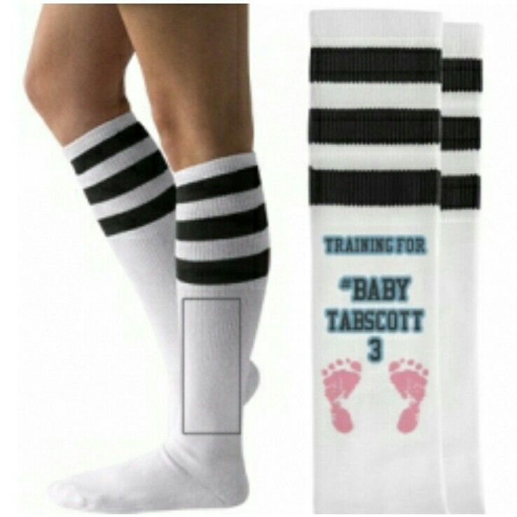 Who doesn't love custom socks!! I can't wait to get our matching socks. #babytabscott3 #ivf #doctorassisted