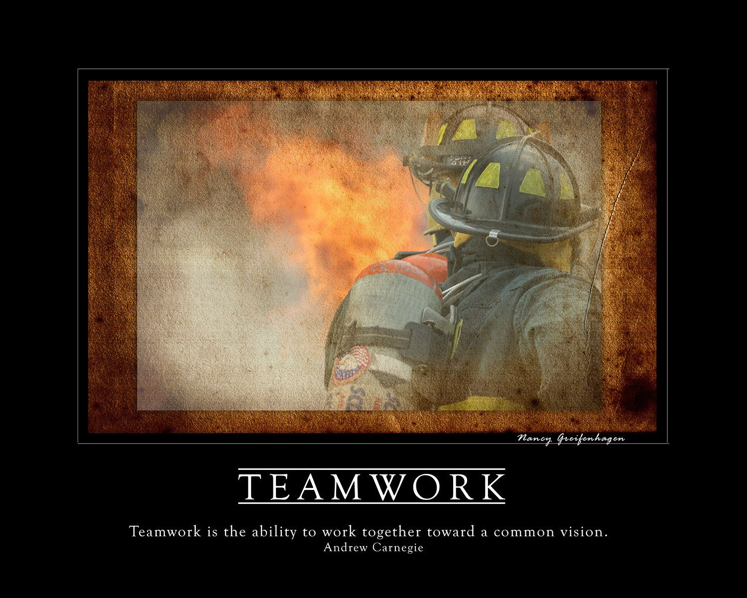 inspirational artwork for office. Teamwork Firefighter Inspirational Fine Art Print Artwork To Hang In Your Home And Office. By For Office