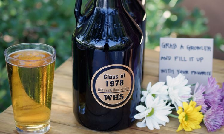 personalized beer growler class reunion gift custom beer gift